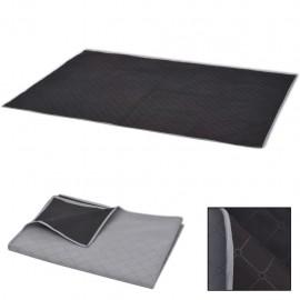 Manta de picnic gris y negra 150x200 cm