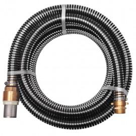 Manguera de succión con conectores de latón 7 m 25 mm negra