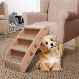Escalera plegable para perros marrón 62x40x49,5 cm