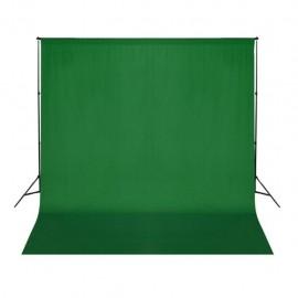 Telón de fondo para fotografía algodón verde 300x300 cm croma