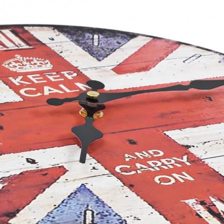 Reloj vintage de pared con flores UK 30 cm