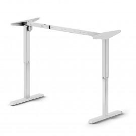 Mesa motorizada regulable en altura, acero, blanco