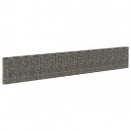 Muro de gaviones con cubiertas acero galvanizado 900x30x150 cm