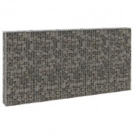 Muro de gaviones con cubiertas acero galvanizado 300x30x150 cm
