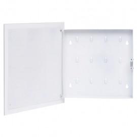 Caja de llaves con tablero magnético blanca 35x35x5,5 cm
