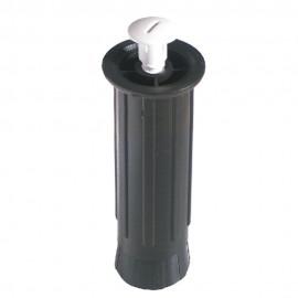 Pata Mueble 130/200Mm Redonda  Plastico Negro Lisa 4 Pz