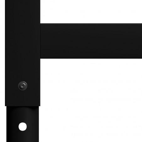 Estructura de banco de trabajo 2 uds metal 55x(69-95,5)cm negro