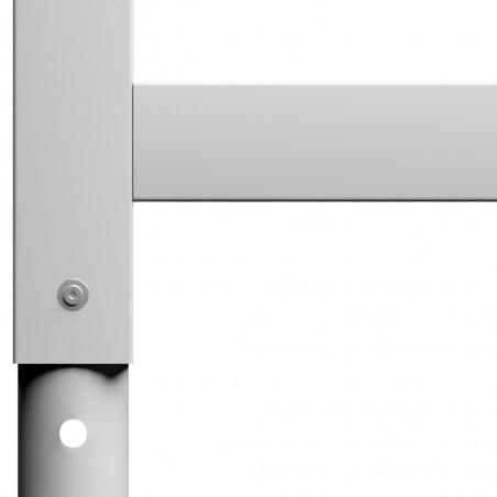Estructura de banco de trabajo 2 uds metal 55x(69-95,5)cm gris