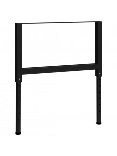Estructura de banco de trabajo 2 uds metal 85x(69-95,5)cm negro
