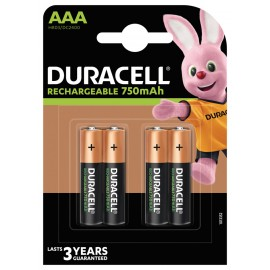 Pila Recargable Lr03 Aaa 750Mah Plus Duracell 4 Pz