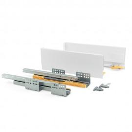Kit de cajón Concept  altura 138 mm y profundidad 400 mm en color blanco