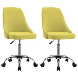 Sillas de oficina giratorias 2 unidades tela gris amarillo