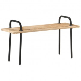 Banco de madera de mango rugosa 110 cm