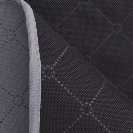 Manta de picnic gris y negra 100x150 cm