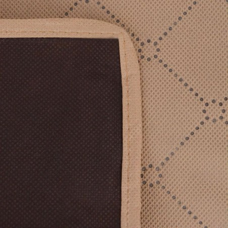 Manta de picnic beige y marrón 150x200 cm