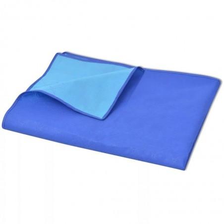 Manta de picnic azul y azul claro 100x150 cm