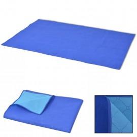 Manta de picnic azul y azul claro 150x200 cm