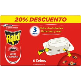Cebo Cucarachas Raid J312449 6 Pz