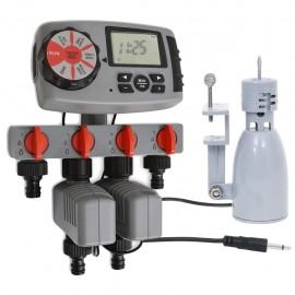 Temporizador automático con 4 estaciones sensor de humedad 3 V