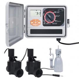 Controlador riego con sensor de humedad y válvula solenoide