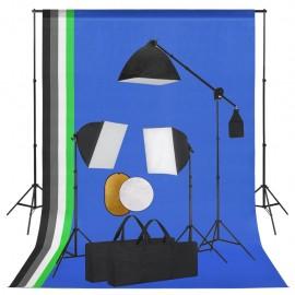 Kit de estudio fotográfico con luces fondo y reflector