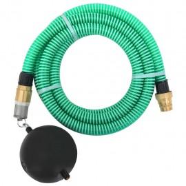 Manguera de succión con conectores de latón 7 m 25 mm verde
