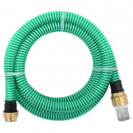 Manguera de succión con conectores de latón 15 m 25 mm verde