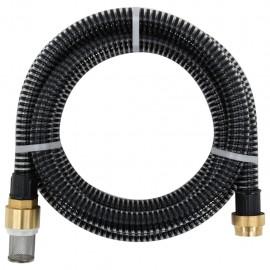 Manguera de succión con conectores de latón 20 m 25 mm negra