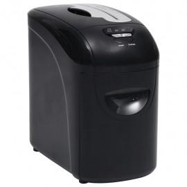 Trituradora de papel microcorte 10 hojas negro