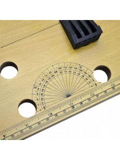 Banco de trabajo móvil con regla de medir