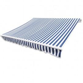 Parte Superior Toldo De Lona Azul&Blanco 3X2,5M Marco No Incluido