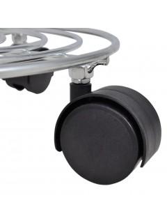 6 Soportes de metal con ruedas para macetas