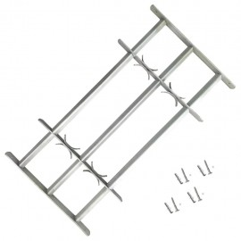 Reja de seguridad ajustable ventana con 3 barras 1000-1500mm