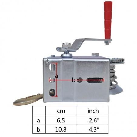 Cabrestante manual de arrastre, 544 kg