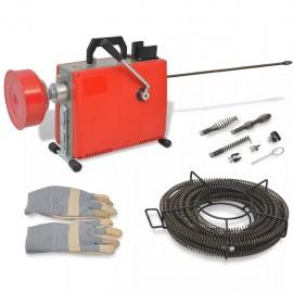 Máquina para limpieza de tuberías 250 W 15mx16mm 4,5mx9,5mm