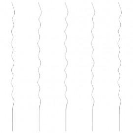 Soporte para planta espiral 5 unidades 170 cm acero galvanizado