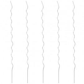 Soporte para planta espiral 5 unidades 110 cm acero galvanizado