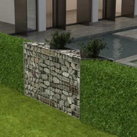 Cesta/jardinera/arriate de gaviones de acero 120x30x100 cm