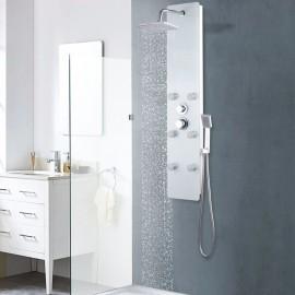 Panel ducha de vidrio 25x44,6x130 cm blanco