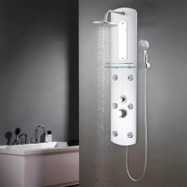 Panel de ducha plateado 25x43x120 cm