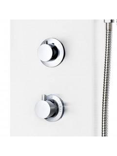 Panel de ducha de aluminio 20x44x130 cm blanco