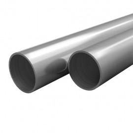 Tubos de acero inoxidable redondos 2 unidades V2A 2 m Ø48x1,8mm