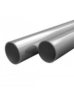 Tubos de acero inoxidable redondos 2 unidades V2A 2 m Ø70x1,8mm