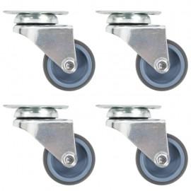 Ruedas dobles giratorias 4 unidades 50 mm