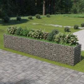 Jardinera de gaviones de acero 540x90x100 cm