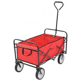 Carrito de mano plegable de acero color rojo