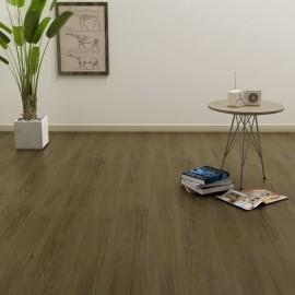 Lamas para suelo PVC autoadhesivas 4,46 m² marrón
