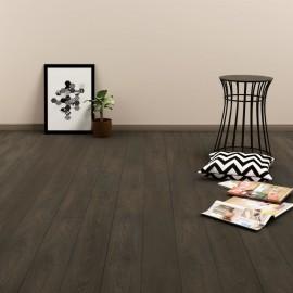 Lamas para suelo PVC autoadhesivas 4,46 m² marrón oscuro