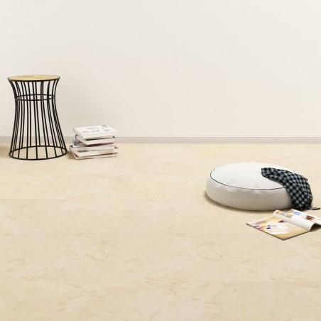 Lamas para suelo de PVC autoadhesivas beige 5,11 m²