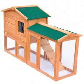 Casa de animales grande jaula conejera de madera